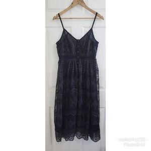 NWT ASOS Bardot Embroidered Midi Dress sz 6